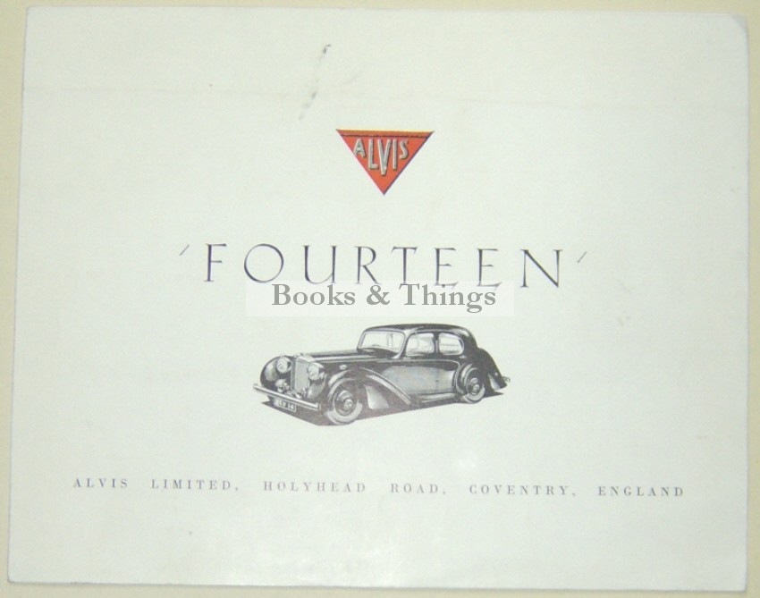 Alvis Fourteen brochure