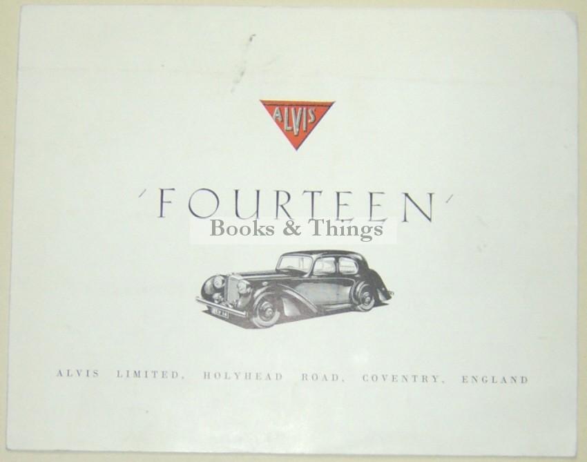 Alvis Fourteen brochure