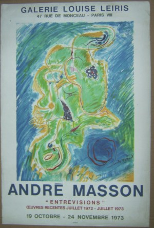 Andre Masson exhibition poster