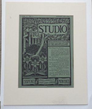 Aubrey Beardsley cover for The Studio