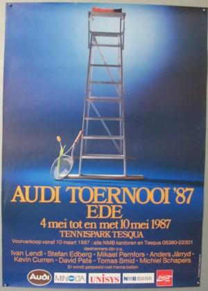 Audi Toernooi 1987  tennis poster
