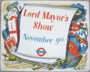 Charles Mozley poster Lord Mayor's Show