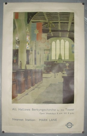 Charles Pears poster All Hallows