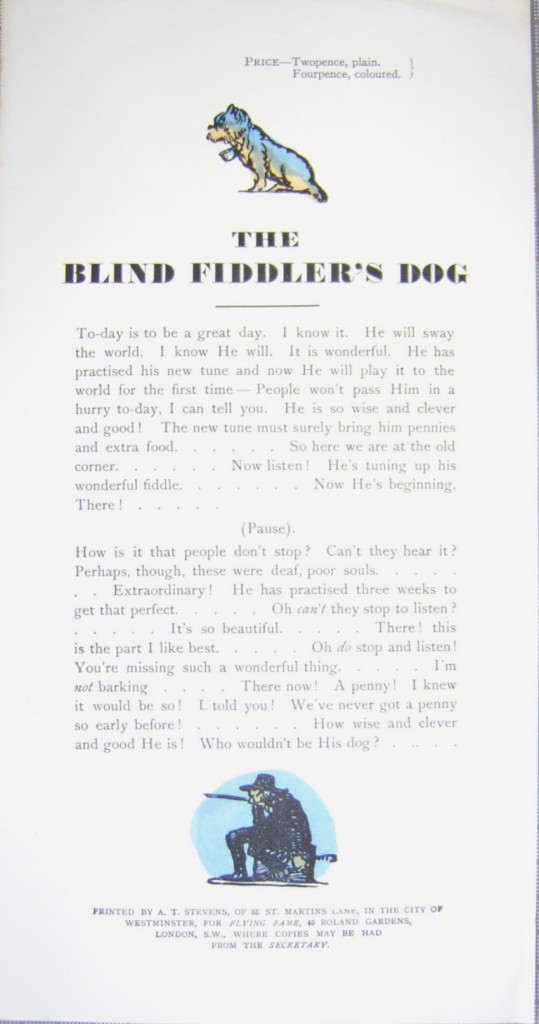 Claud Lovat Fraser The Blind Fiddler's Dog