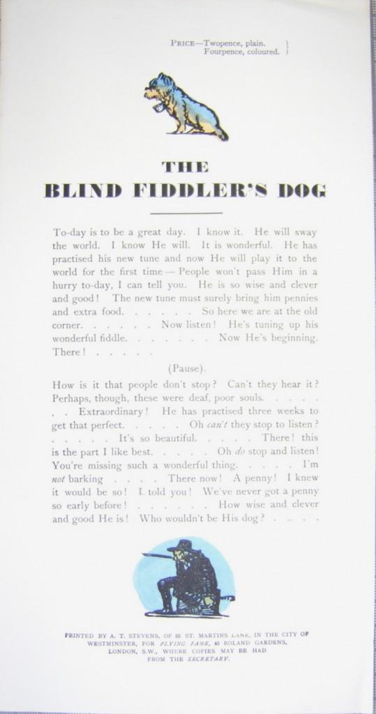 Claud Lovat Fraser The Blind Fiddler's Dog