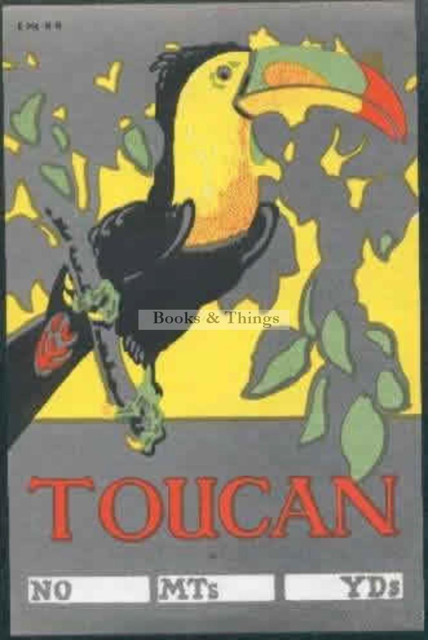 E. McKnight Kauffer toucan bale label