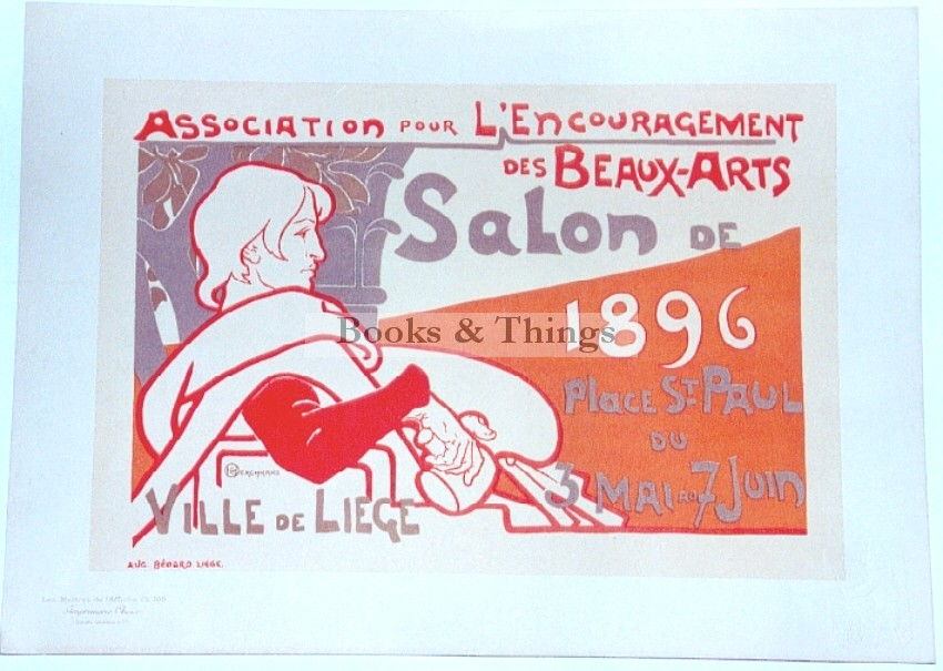 Emile Berchmans  lithograph Maitres de l'Affiche