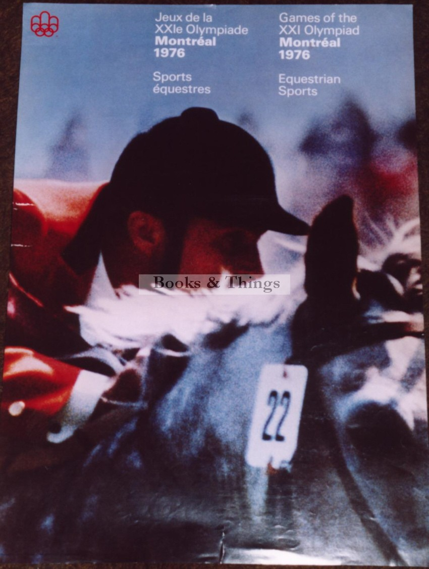 Equestrian Montreal Olympics poster
