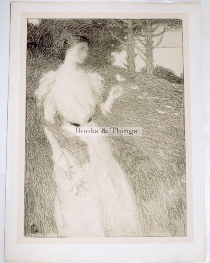 Ernest Laurent lithograph Soire d'octobre