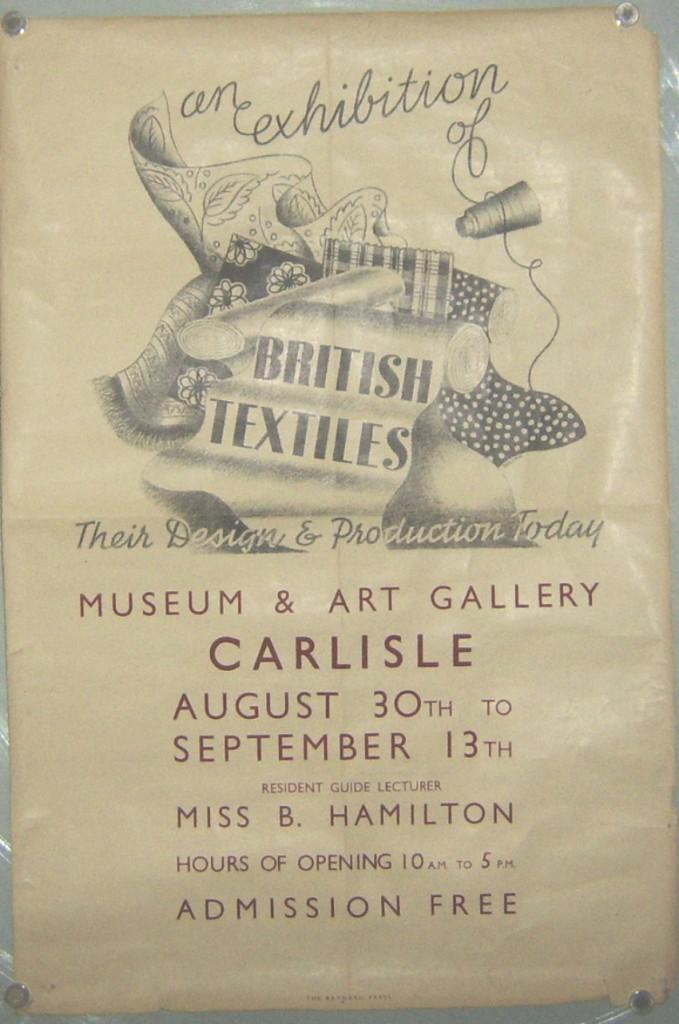 Exhibition of BritishTextiles poster