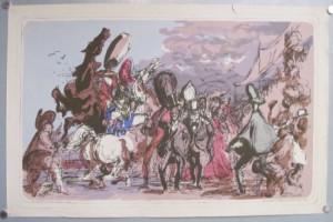 Felix Topolski lithograph School Print