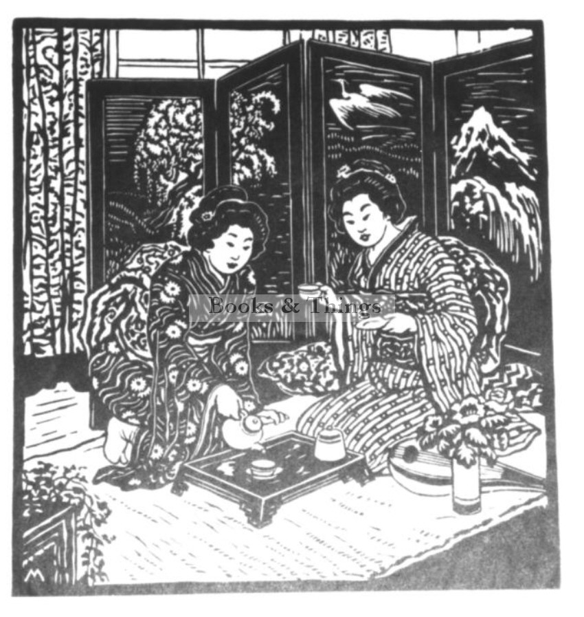 Ferdinand Michl woodcut Tea Ceremony