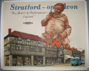 Frank Newbould poster Stratford on Avon