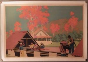 Frank Newbould poster Trinidad Cocoa
