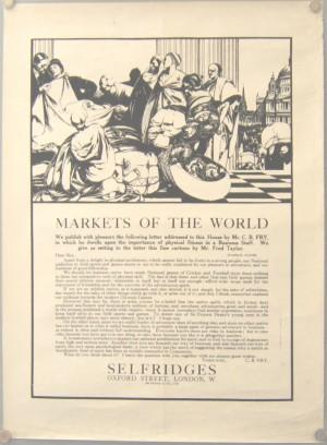 Fred Taylor Selfridges poster