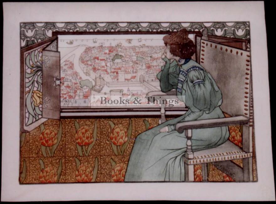 G. M Stevens lithograph Solveig