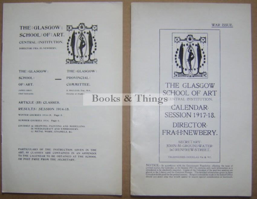 Glasgow School of Art Calendar Session & Results