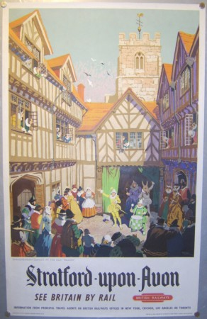 Gordon Nicholl poster Stratford on Avon
