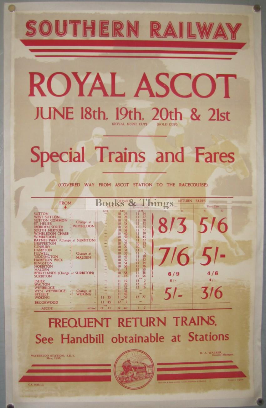 Graham Sutherland poster Ascot