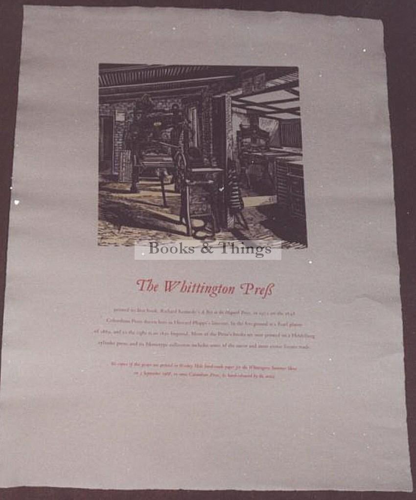 H. Phipp poster Whittington Press