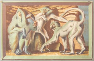 Hans Feibusch lithograph School Print