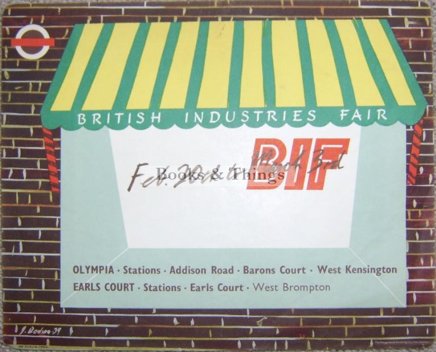 J. Dodson British Industries Fair poster