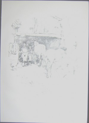 James McNeill Whistler lithograph Smith's Yard