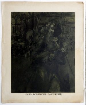 James Pryde lithograph Louis Dominique Cartouche