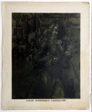 James Pryde lithograph Louis Dominique Cartouche