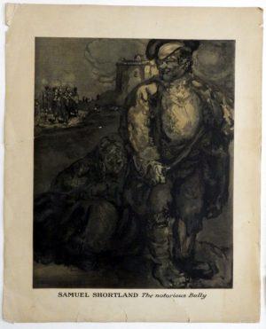 James Pryde lithograph Samuel Shortland