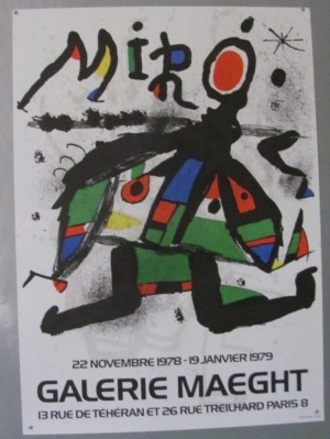 Joan Miro poster Galerie Maeght