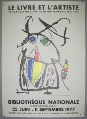 Joan Miro poster Le Livre et L'Artiste
