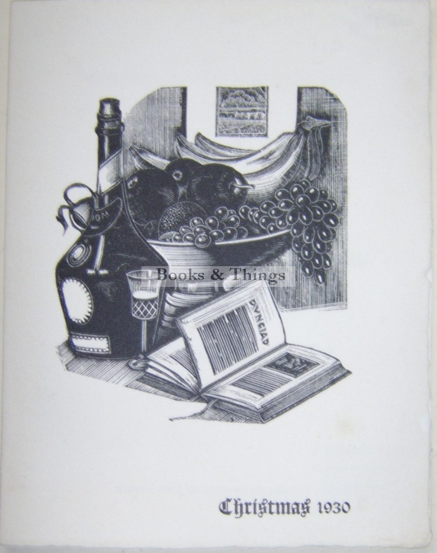 John Austen Christmas card