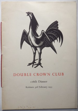 John Buckland-Wright Double Crown Club menu