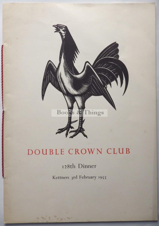 John Buckland-Wright Double Crown Club menu