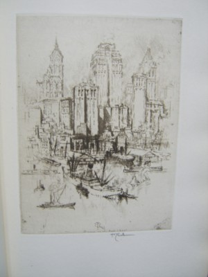 Joseph Pennell etching New York