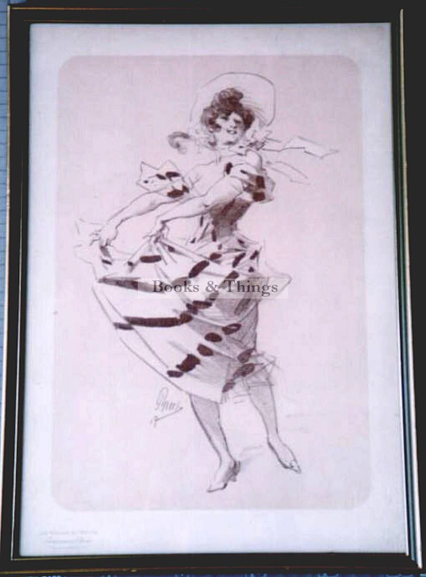 Jules Cheret lithograph Maitres de l'Affiche