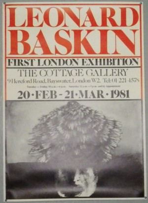 Leonard Baskin London exhibition poster
