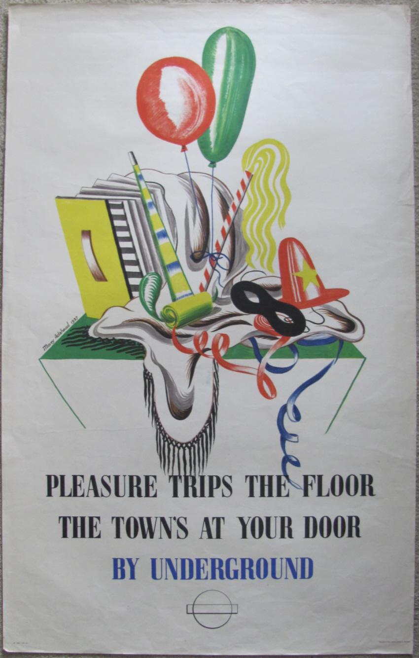 Mary Adshead poster Pleasure Trips