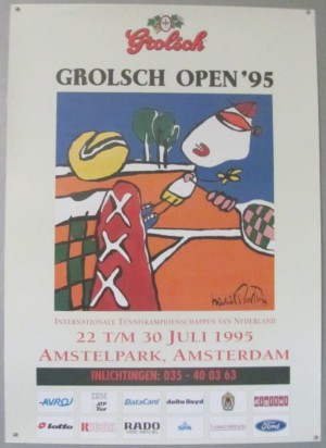Michel Poort Grolsch Open Tennis tournament 1995