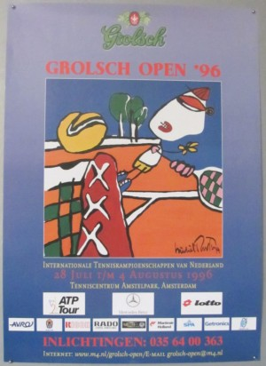 Michel Poort Grolsch Open Tennis tournament poster 1996