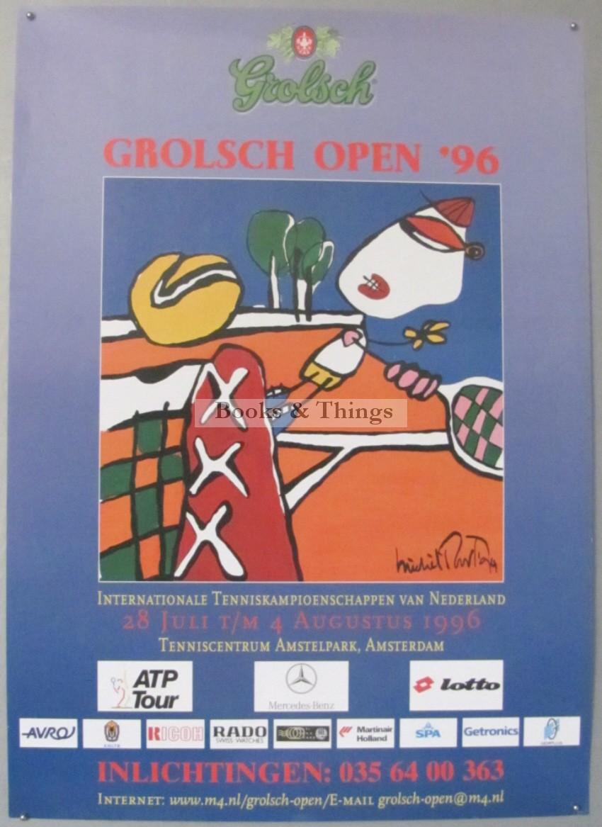Michel Poort Grolsch Open Tennis tournament poster 1996