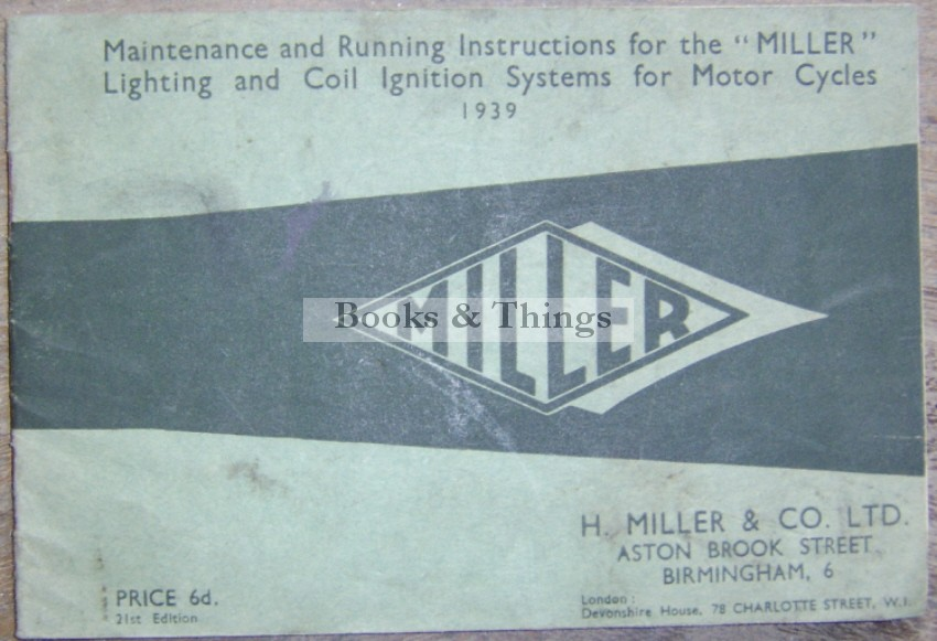 Miller Coil Ignition System booklet