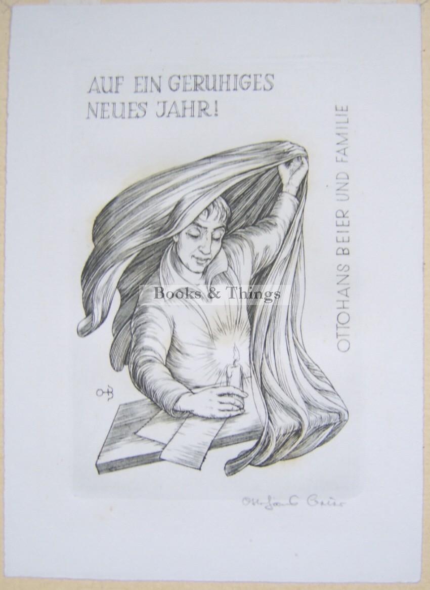 Otto Hans Beier New Year card