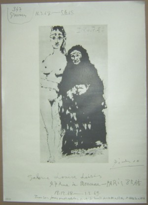 Pablo Picasso poster Galerie Louise Leiris