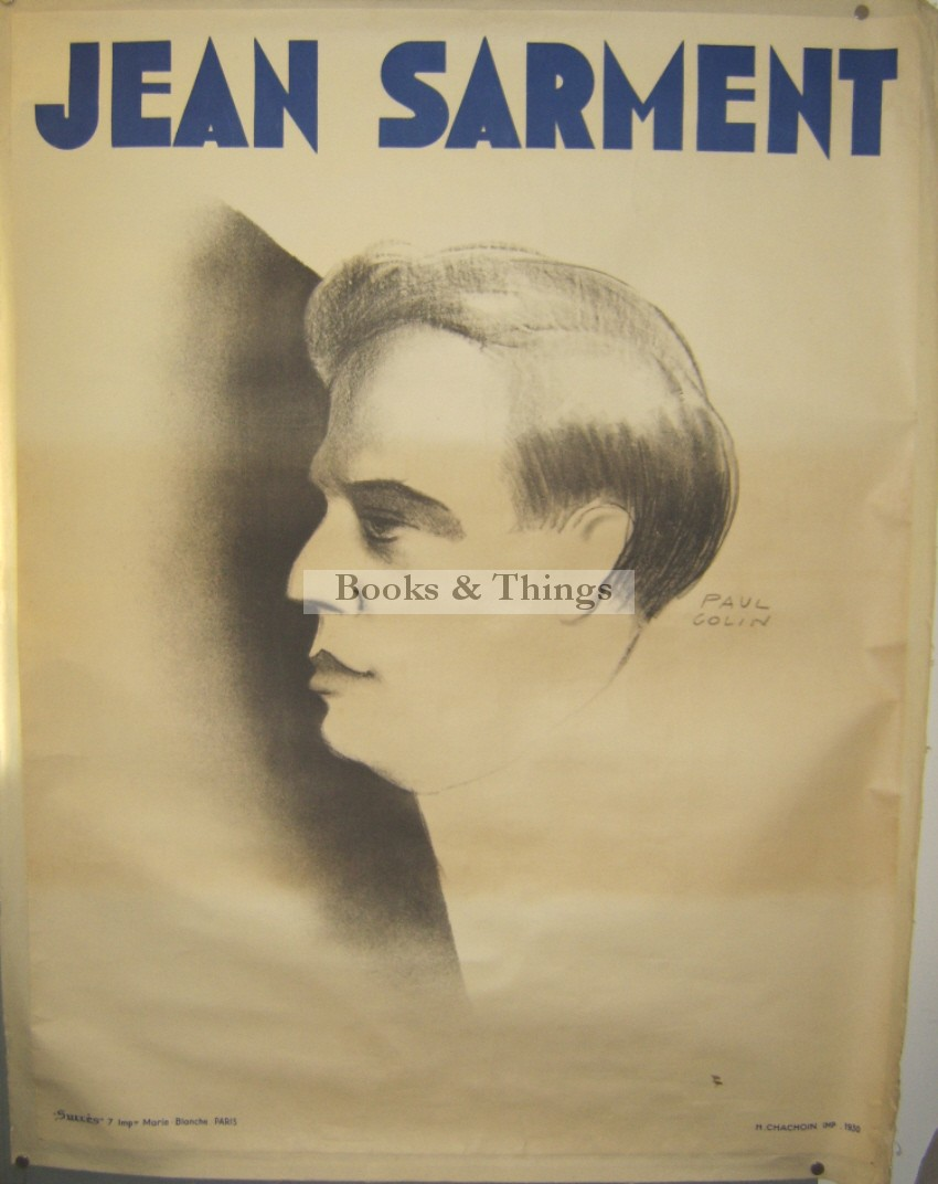 Paul Colin poster Jean Sarment