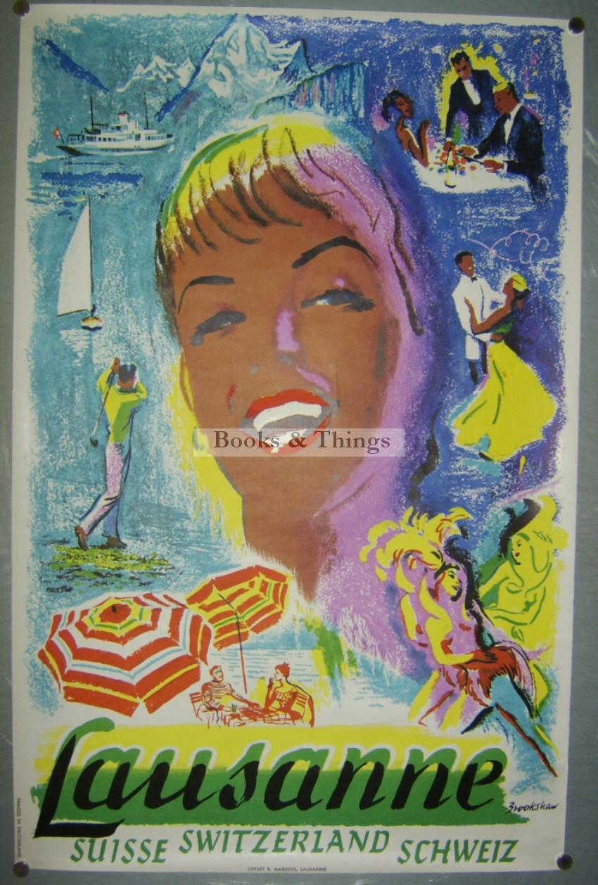 Percy Brookshaw poster Lausanne