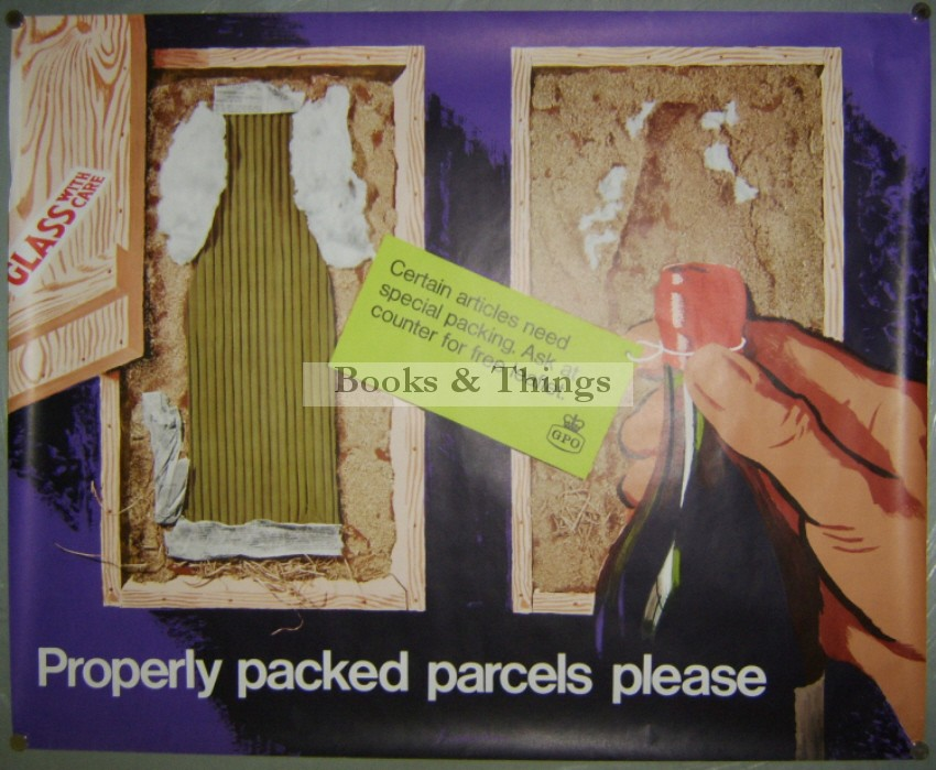 Percy Brookshaw poster Properly Packed Parcels