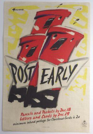 Pieter Huveneers poster Post Early