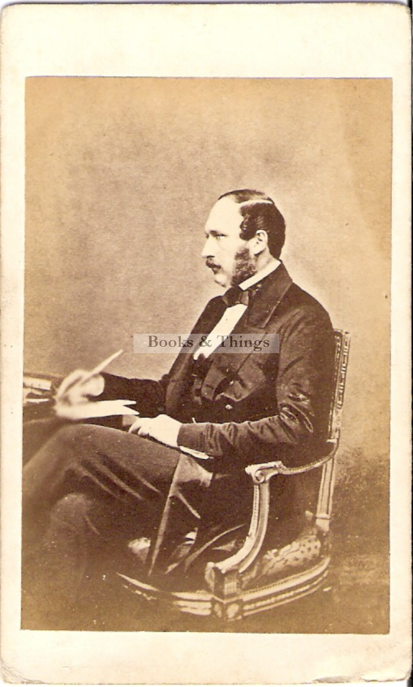 Prince Albert seated photograph
